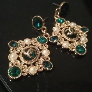 Chanel vintage baroque costume earrings